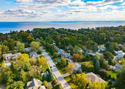136 Trelawn Avenue Oakville | Exterior-(Drone-and-Lake)